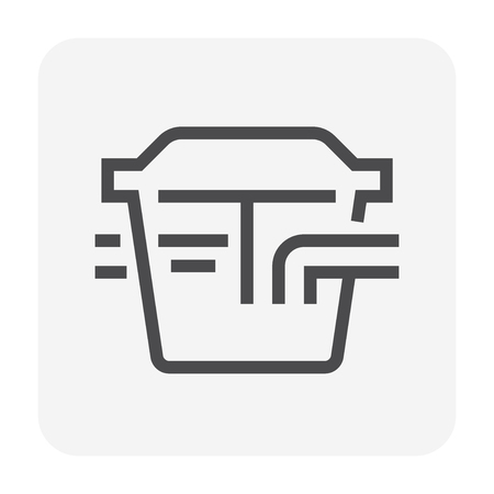Grease trap icon, 48x48 pixel perfect and editable stroke.