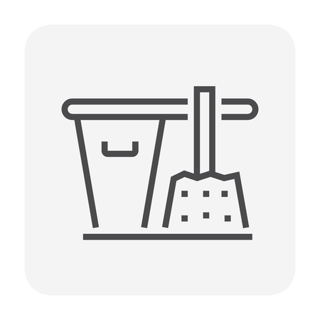 Concrete strength testing icon, 64x64 perfect pixel and editable stroke. Stock Illustratie