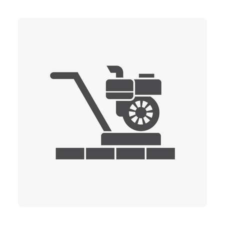 Sand paper machine and wood floor icon.