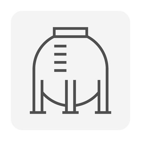 Gas tank storage icon,64x64 perfect pixel and editable stroke. Vektoros illusztráció