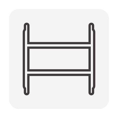 Scaffolding and accessory icon, 64x64 perfect pixel and editable stroke. Фото со стока