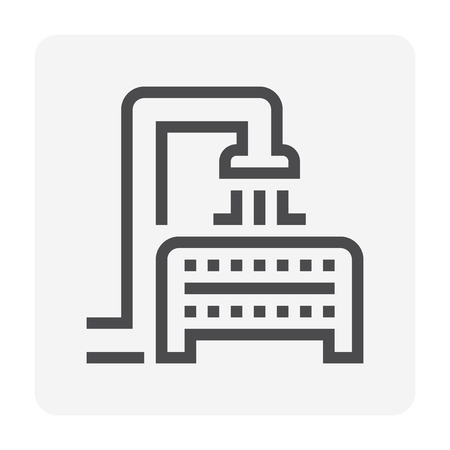 Water treatment and water filter icon, 48x48 pixel perfect and editable stroke. Zdjęcie Seryjne