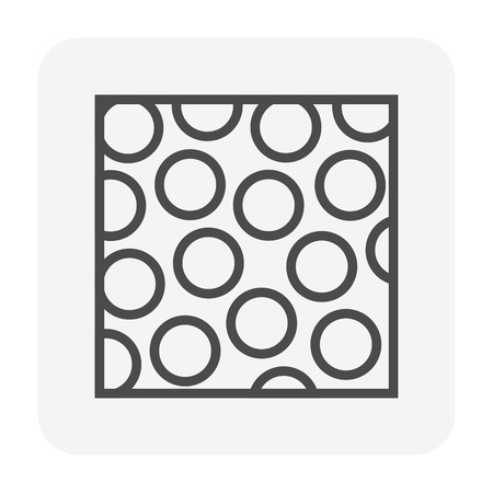 Soil structure icon, 64x64 perfect pixel and editable stroke.