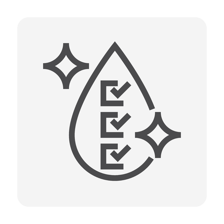 Water treatment and water filter icon, 48x48 pixel perfect and editable stroke. Ilustracja