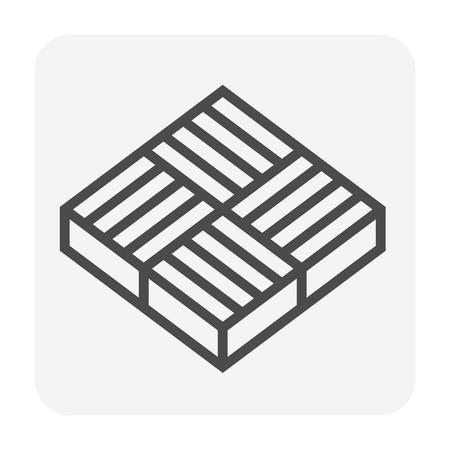 Beton bestratingsafwerkmachines blok vloer pictogram, bewerkbare beroerte.