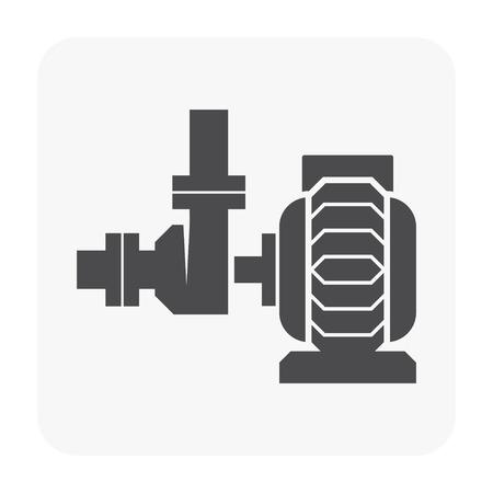 Waterpomp pictogram op wit. Vector Illustratie