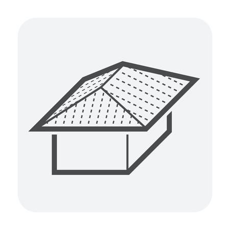 Dachform und Hausvektorikonenentwurf.