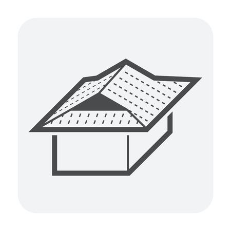 Forme de toit et conception d'icône de vecteur de maison.