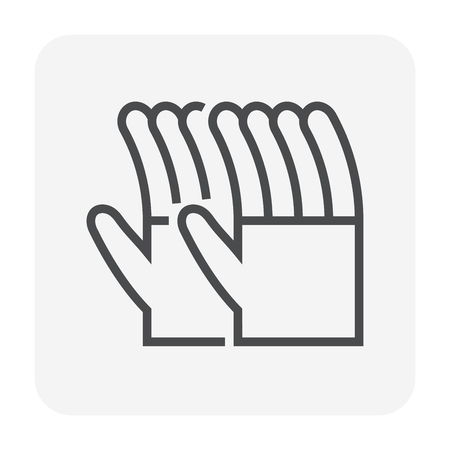 Glove icon, 64x64 perfect pixel and editable stroke.