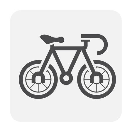 Bike icon design, black and outline.