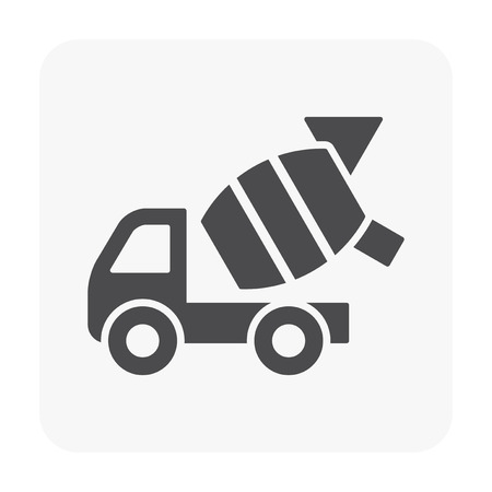 Vehicle icon on white. Vettoriali