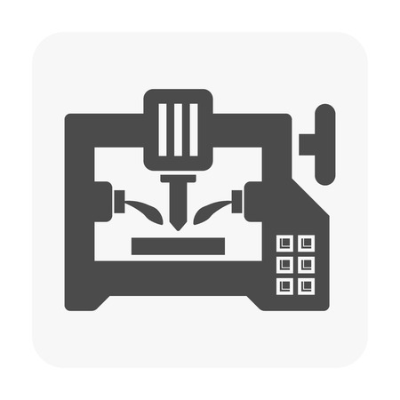 Cnc milling machine icon.