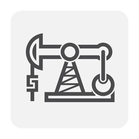 Oil rig icon on white.