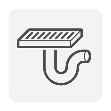 Floor drain icon for drainage system.