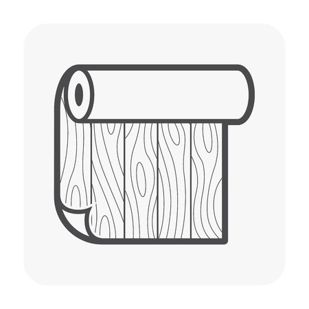 Linoleum pattern icon design, black color.