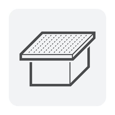 Forme de toit et conception d'icône de vecteur de maison. Vecteurs