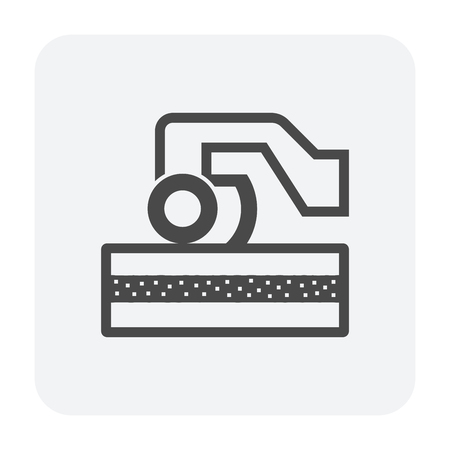 Soil compaction and equipment icon.