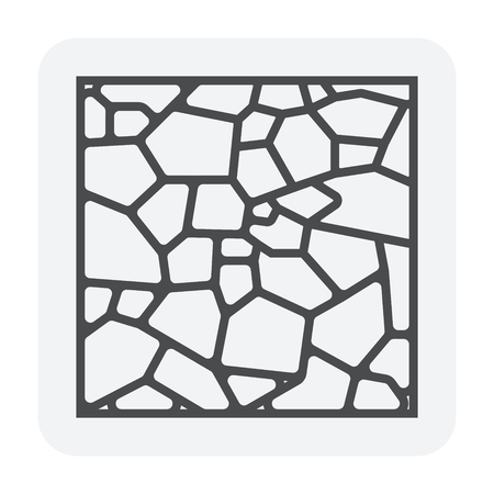 Concrete paver block floor icon, editable stroke. Stock Vector - 107238500