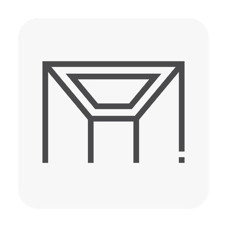 Ceiling work and material icon. Stock Illustratie