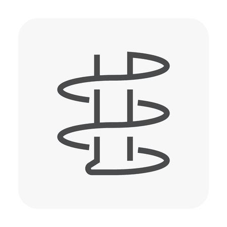 Icona di ingegneria geotecnica e test del suolo. Vettoriali