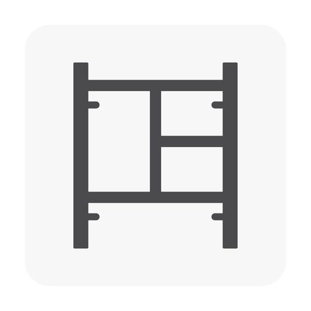 Scaffolding and equipment vector icon.