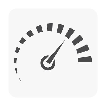 Gauge meter icon on white. Vector Illustration