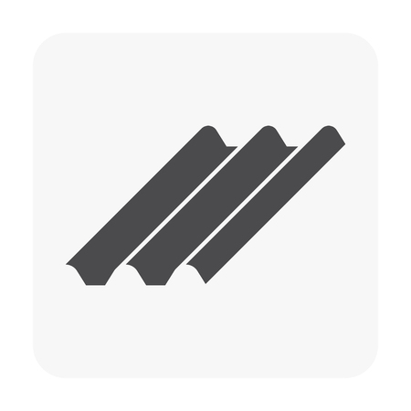 Roofing material icon on white background. Illustration