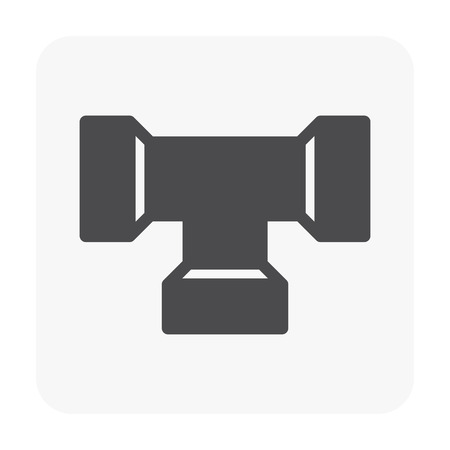 Sewer pipe and drainage system icon on white. Illustration