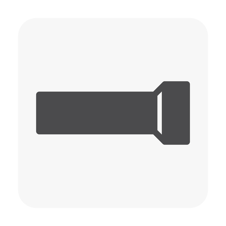 Sewer pipe and drainage system icon on white. Stock Illustratie