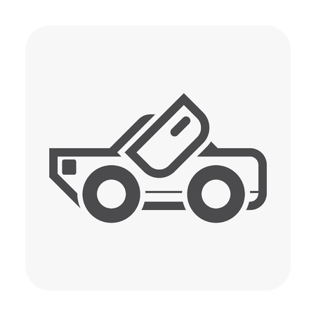 Sport car icon on white.