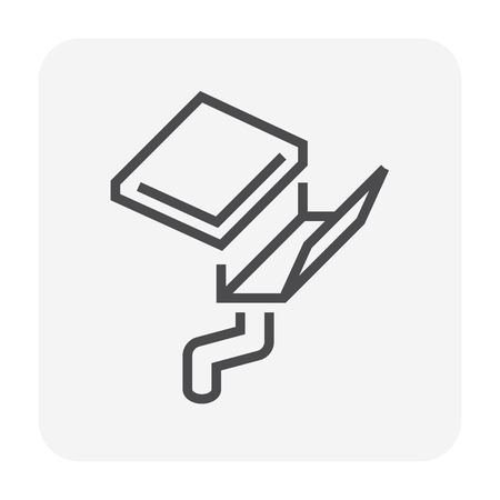 Gutter and drainage system icon, 64x64 perfect pixel and editable stroke.