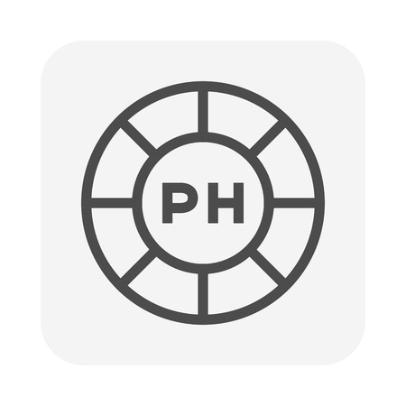 PH scale icon, 64x64 perfect pixel and editable stroke.
