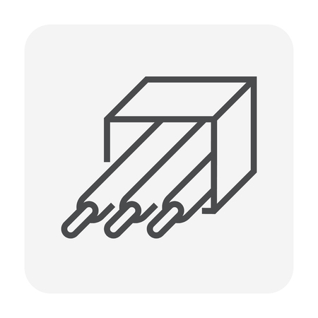 Wire for welding work icon, 64x64 perfect pixel and editable stroke.