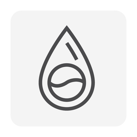 Water drop icon, 48x48 pixel perfect and editable stroke.