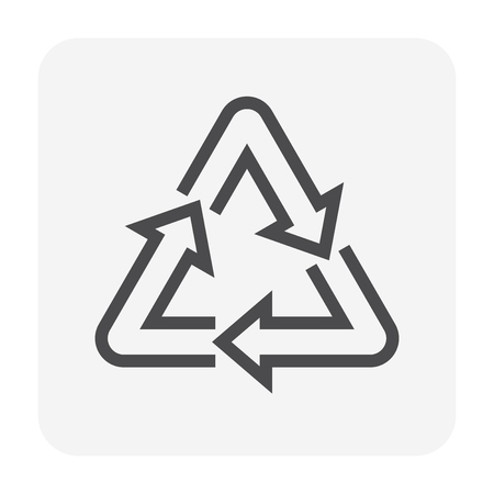 Recycle icon, 48x48 pixel perfect and editable stroke.