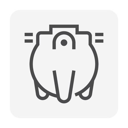 Icône de fosse septique, course parfaite et modifiable de 48 x 48 pixels.