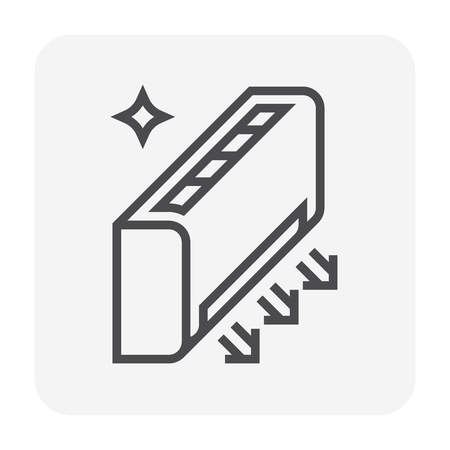 Air conditioner cleaning icon, 64x64 perfect pixel and editable stroke.