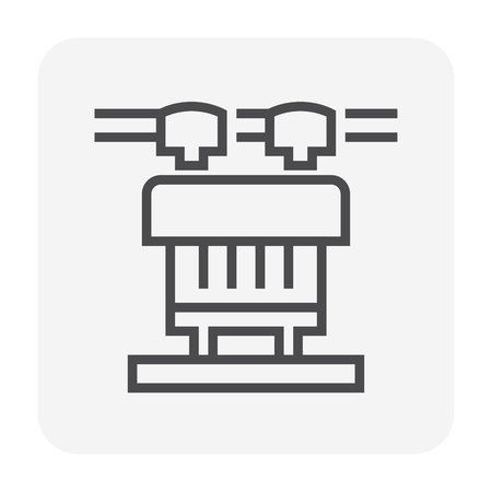 Transformer icon, 64x64 perfect pixel and editable stroke. Illustration