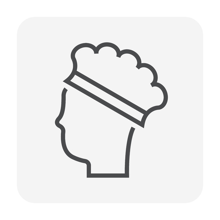 Cap hair icon, 64x64 perfect pixel and editable stroke.
