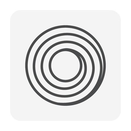 Icône de rouleau de tôle d'acier, pixel parfait de 64x64 et trait modifiable.