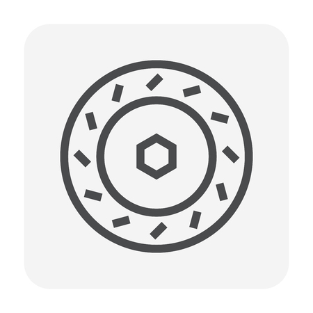 Disc brake icon, 48x48 perfect pixel and editable stroke.