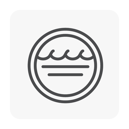 Water wave icon design,  black color. Illustration