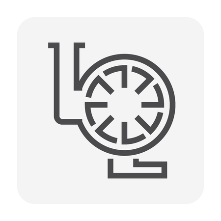 Water pump icon, 48x48 pixel perfect and editable stroke. Stock Vector - 109877350