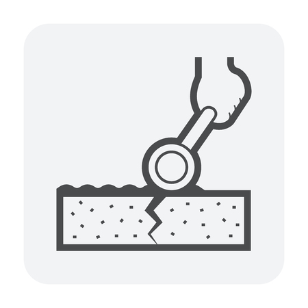 Waterproof and water leak icon, 64x64 perfect pixel and editable stroke. Vetores