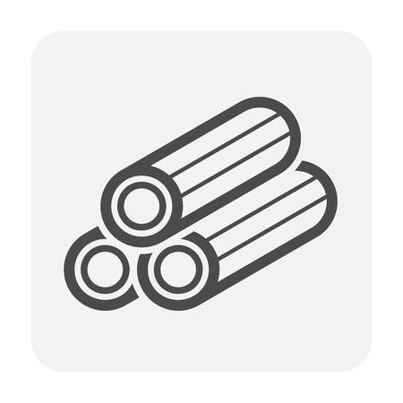Diseño de icono de junta de conexión y tubería de HDPE, negro y contorno.