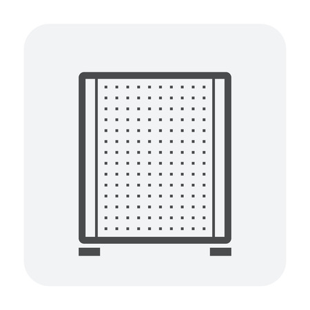 Partition wall or divide space equipment icon.