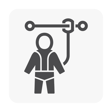 Safety equipment icon on white.