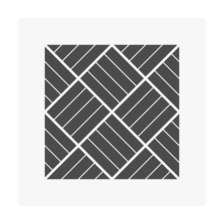 Wood floor pattern icon on white.