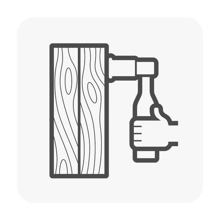 Construction tool icon on white.