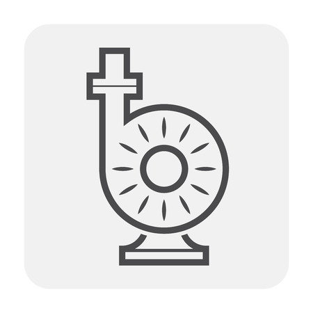 Water pump and water pipe icon for distribution water.